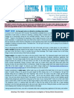 Tow Vehicle Selection 4-Part Series