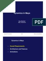 Dynamics in Maya