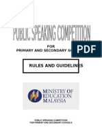 Public Speaking Rules