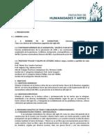 Programa Literatura Argentina I 2014