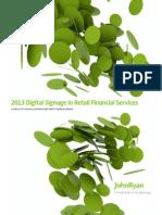 Digital Signage in Banking