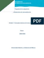 Unidad 1. Conceptos Basicos de Mercadotecnia 090714