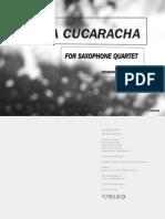 La Cucaracha - Saxophone Quartet