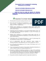 Formalities for Transfer of Plot