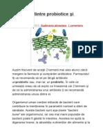 Diferenţa Dintre Probiotice Şi Prebiotice