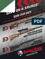 Savage Arms Spring 2015 Rebate