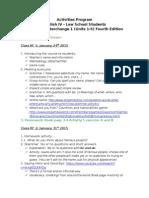 Programa de actividades para curso de Inglés