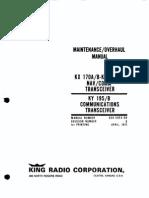 KX 170A - Maintenance Manual Honeywell