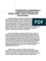 The Effects and Hazards of Combustion in Transport
