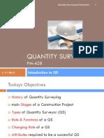 01 - Intro to Quantity Surveying