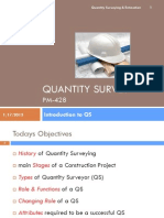 01 - Intro to Quantity Surveying