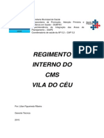 Regimento Interno CMS Vila Do Céu 2015