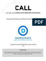 2016 Call for the Convention