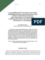 Leadership Effectiveness and Work Journal