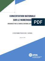 Contribution de l'Afdel à la consultation du Conseil National du Numérique.