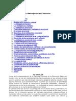 La Metacognición en La Educación 1. Introducción