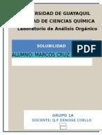 analisis organico (solubilidad)