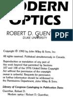 R.D.guenther Modern Optics