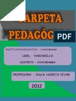 Carpeta Pedagógica (i.e. Chacabamba - Yarowilca)