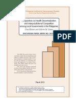 (Kelekar, Llanto) Perspectives on Health Decentralization