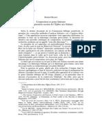 Meynet R. - Composition Et Genre Littéraire de La Première Section de l'Épître Aux Galates