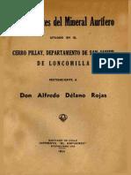 Mineral Aurifero Cerro Pillay
