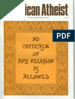 American Atheist Magazine Sep 1989