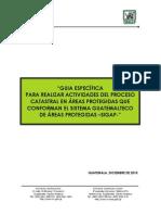 Guía Específica Para Realizar Actividades Del Proceso Catastral en Áreas Protegidas Del SIGAP