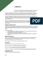 Notes on Selenium WebDriver