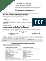 Fiche d Accueil Et Declaration Sur l Honneur Primo Entrants