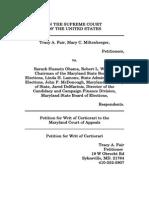 Fair v Obama Petition for Writ of Certiorari