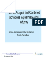 Thermal Analisys Pharmaceuticals
