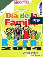 Afiche Dia de La Familia Rosarina 2014