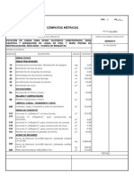 Cómputos Métricos Estación de Carga - Área 6000 - Julio 2014