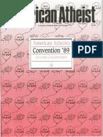 American Atheist Magazine April 1989