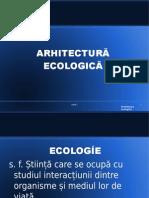 curs 1 - notiuni introductive, arhitectura ecologica