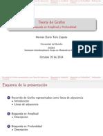 TEORIA DE GRAFOS-Busqueda en Amplitud y Profundidad