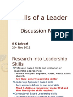 Skills of a Leader-presentation by S K Jaiswal
