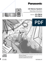 Panasonic SC-PM18 Stereo System User Manual
