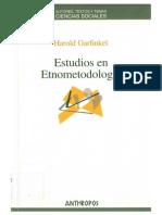 Garfinkel, Harold-Estudios de Etnometodologia