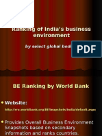 Ranking of India's Business Environment