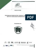 Convocatoria Promocion Docente.2014