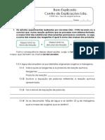 2.1 - Tipos de Reaçoes Químicas - Teste Diagnóstico