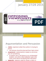 day 1 - research argumentation terms