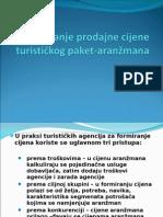 Određivanje Prodajne Cijene Turističkog Paket-Aranžmana PP