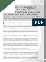 O reconhecimento da especialidade em fisioterapia do trabalho pelo COFFITO e Ministério do Trabalho/CBO