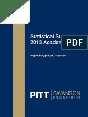 2013 Statistical Summary   Biomechanics   Engineering