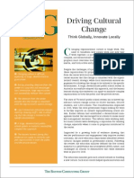 BCG Driving Cultural Change March 2009