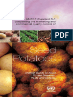 Marketing and commercial quality control of seed potatoes