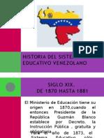 Historia Del Sistema Educativo Venezolano